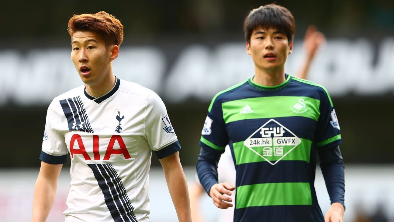 Son Heung Min Ki Sung Yeung Under World Cup Cloud For South Korea