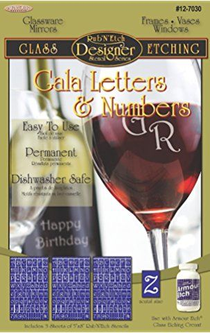 Romantic Moments Glass Etching Stencils, Hearts, Roses /& Love Sayings Free How to Etch CD