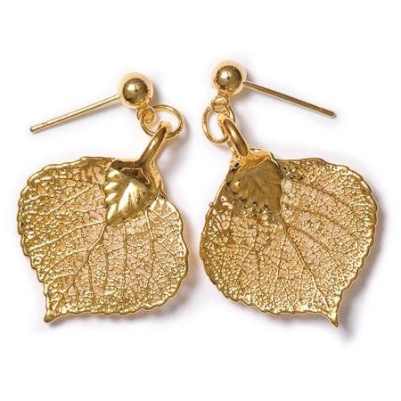a8b30254a Gold Dipped, Dangle Earrings, Wedding Attire, Fashion Brands, Aspen Leaf,  Jewelry