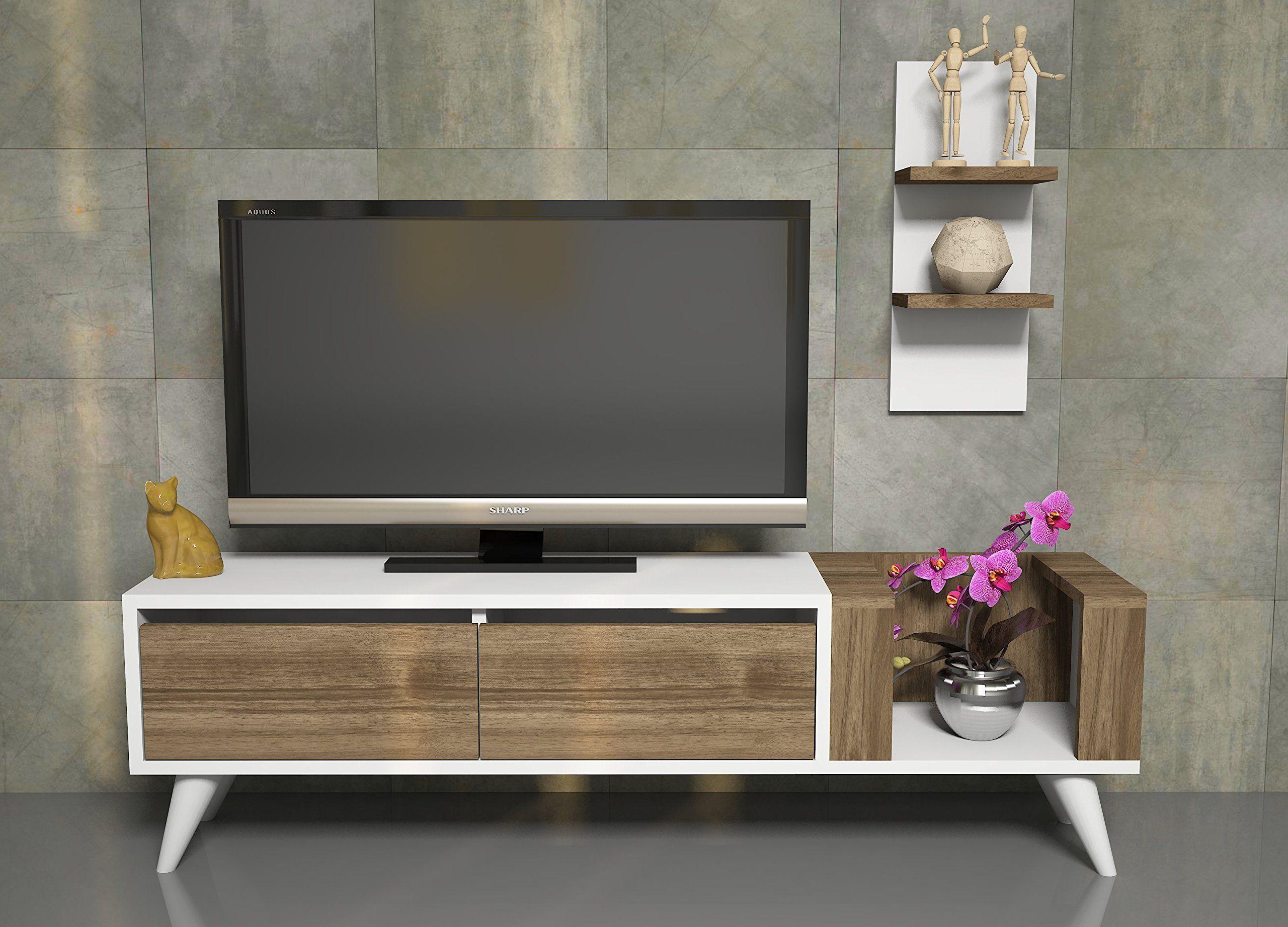 Pers mueble sal n comedor para televisi n con 2 puerta y for Mueble bajo salon blanco