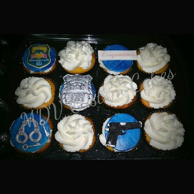 Correction Officer Cupcakes #correctionofficer #cupcakes # ...