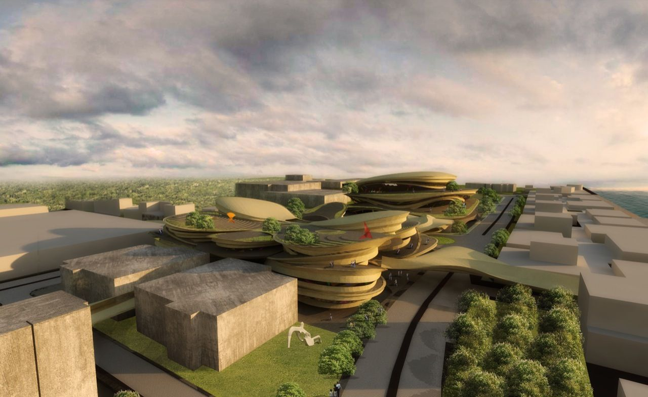 arts performing ccp theatre archiscene buensalido architects center architecture