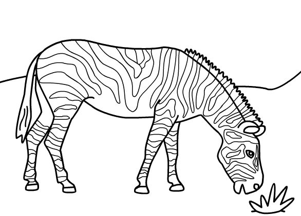 Zebra Coloring Pages For Animal Loving Children Zebra Coloring Pages Coloring Pages For Kids Animal Coloring Pages