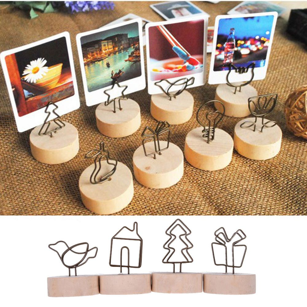 Details About Note Memo Desk Picture Photo Frame Clip Holder Stand