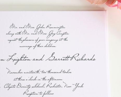 Elegant Handwritten Wedding Invitations