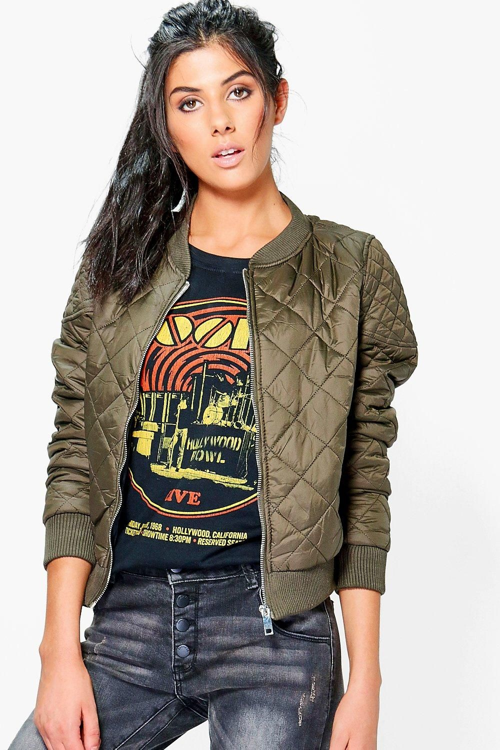 Ladies Quilted Bomber Jacket Fashion, Jackets, Latest