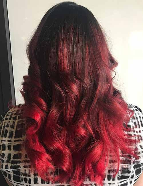 Hair Color Trends for 2018: Red Ombre Hairstyles | hair | Pinterest ...