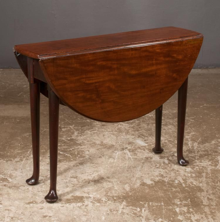 Queen Anne Mahogany Drop Leaf Table With Oval Shape Drop Leaves On Tapered Legs With Pad Feet C 1800 38 Long Mahogany Drop Leaf Table Drop Leaf Table Table