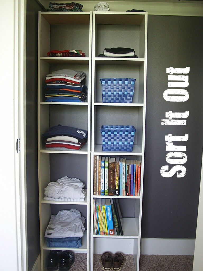 Spring into organization organized kids 39 rooms clean up - Storage for bedrooms without closets ...