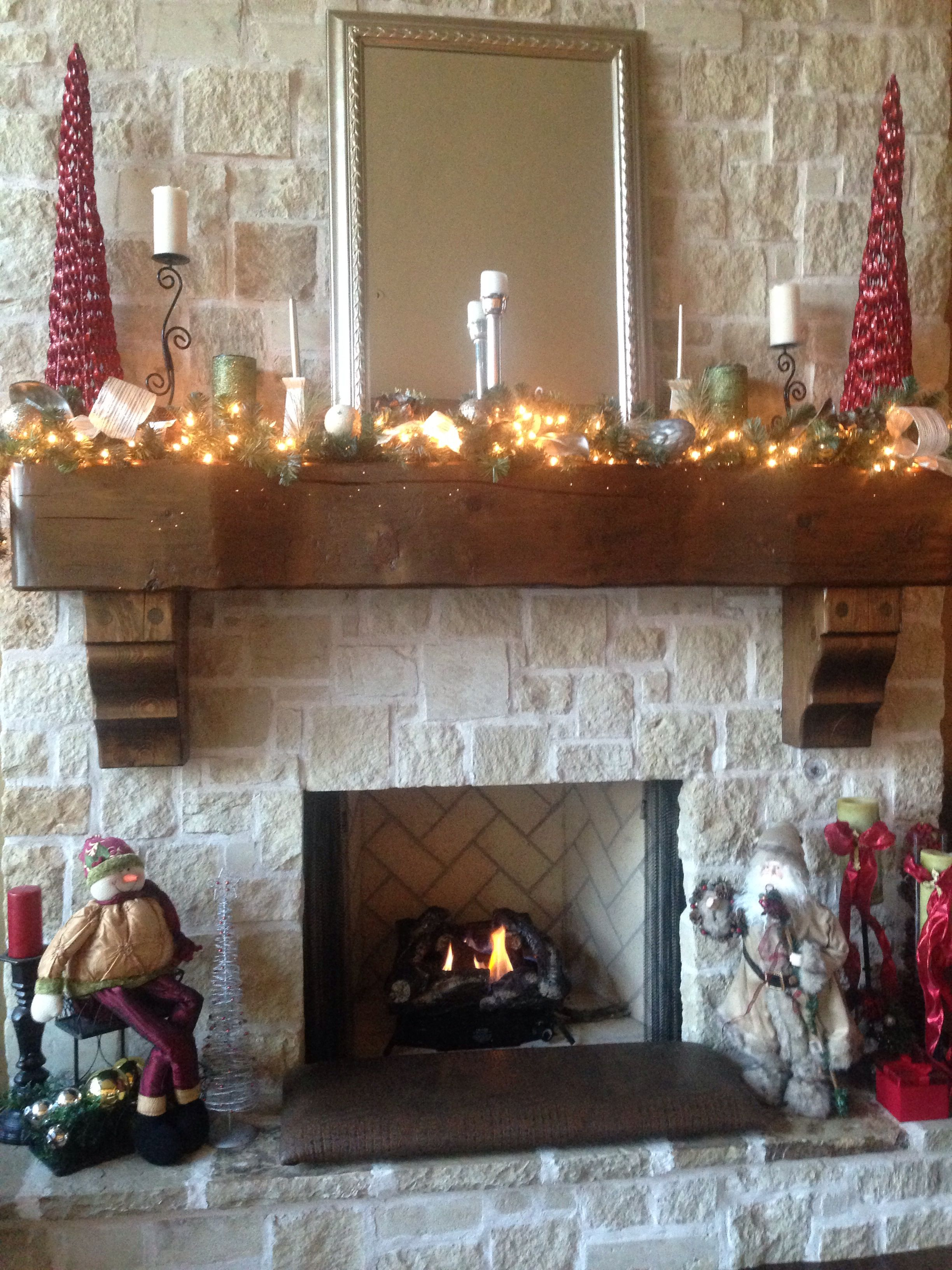 Our Christmas fireplace