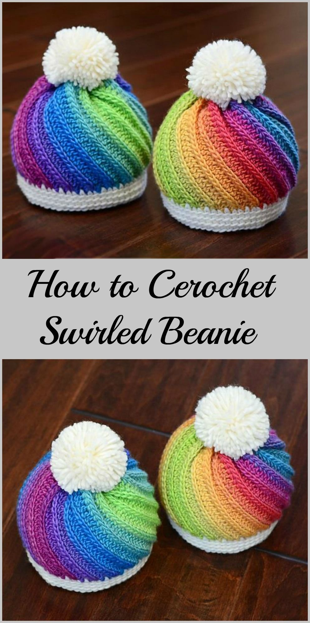 How to Crochet Staircase Stitch Slouchy Hat - Free | Mütze, Häkeln ...