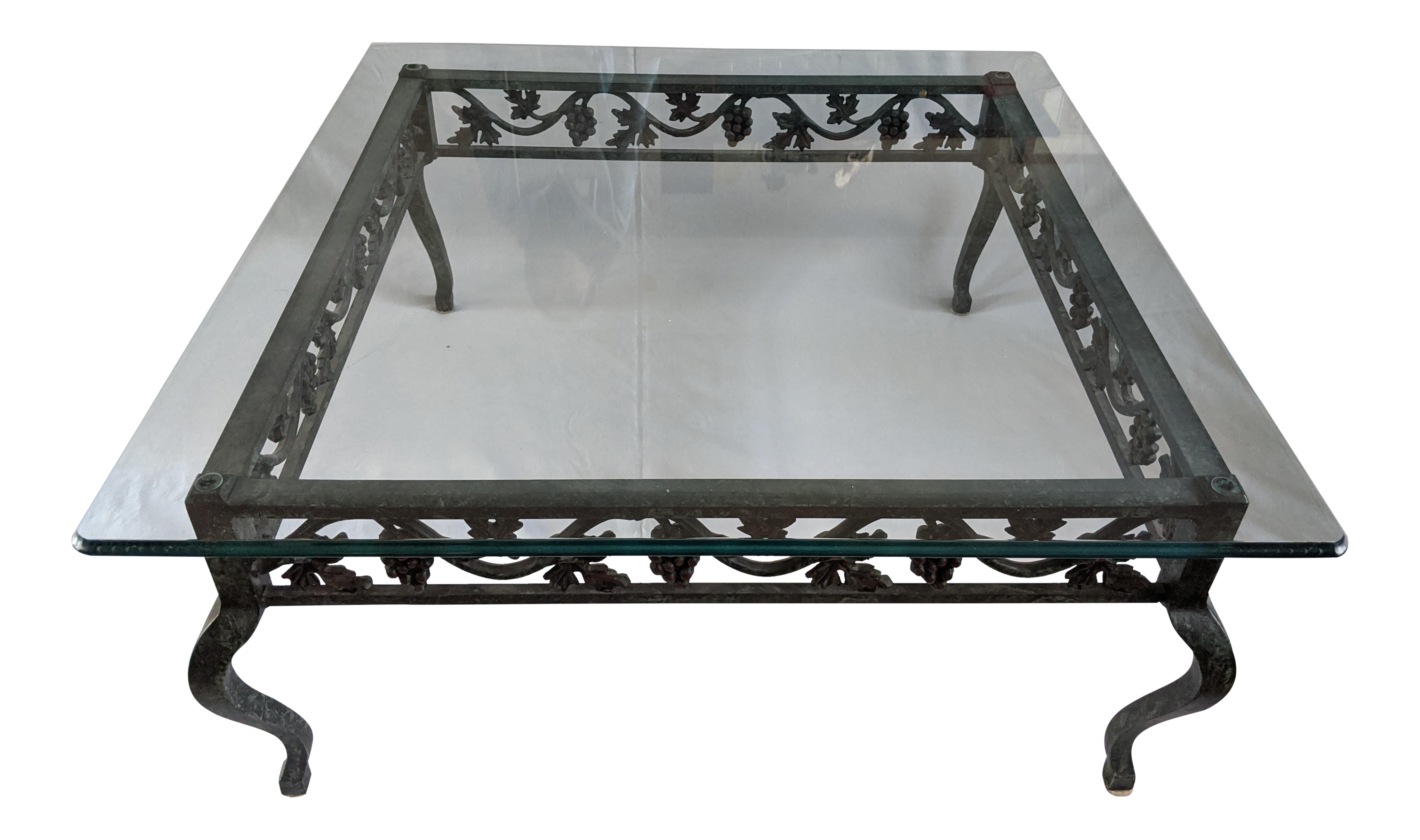 Lane Verdigris Wrought Iron Grapevine Coffee Table On Chairish Com Coffee Table Traditional Table Accent Decor [ 2429 x 4106 Pixel ]