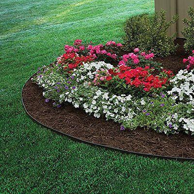 Heavy Duty Plastic No Dig Landscape Edging Kit Garden 640 x 480