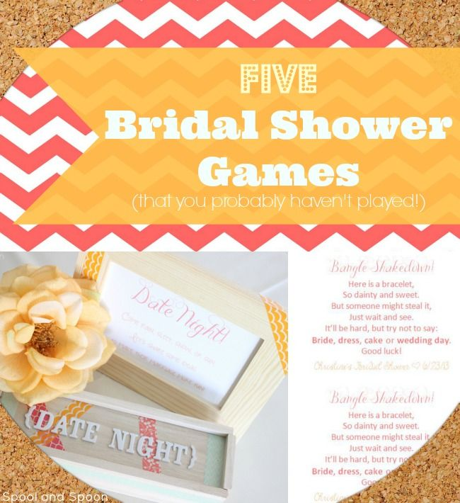 5 Simple & Fun Bridal Shower Activities / Games That You