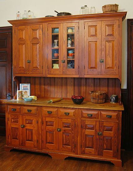 My Own 1897 Floor To Ceiling Pantry Cabinet Is Similar But With Pressed Glass Door Panels On All