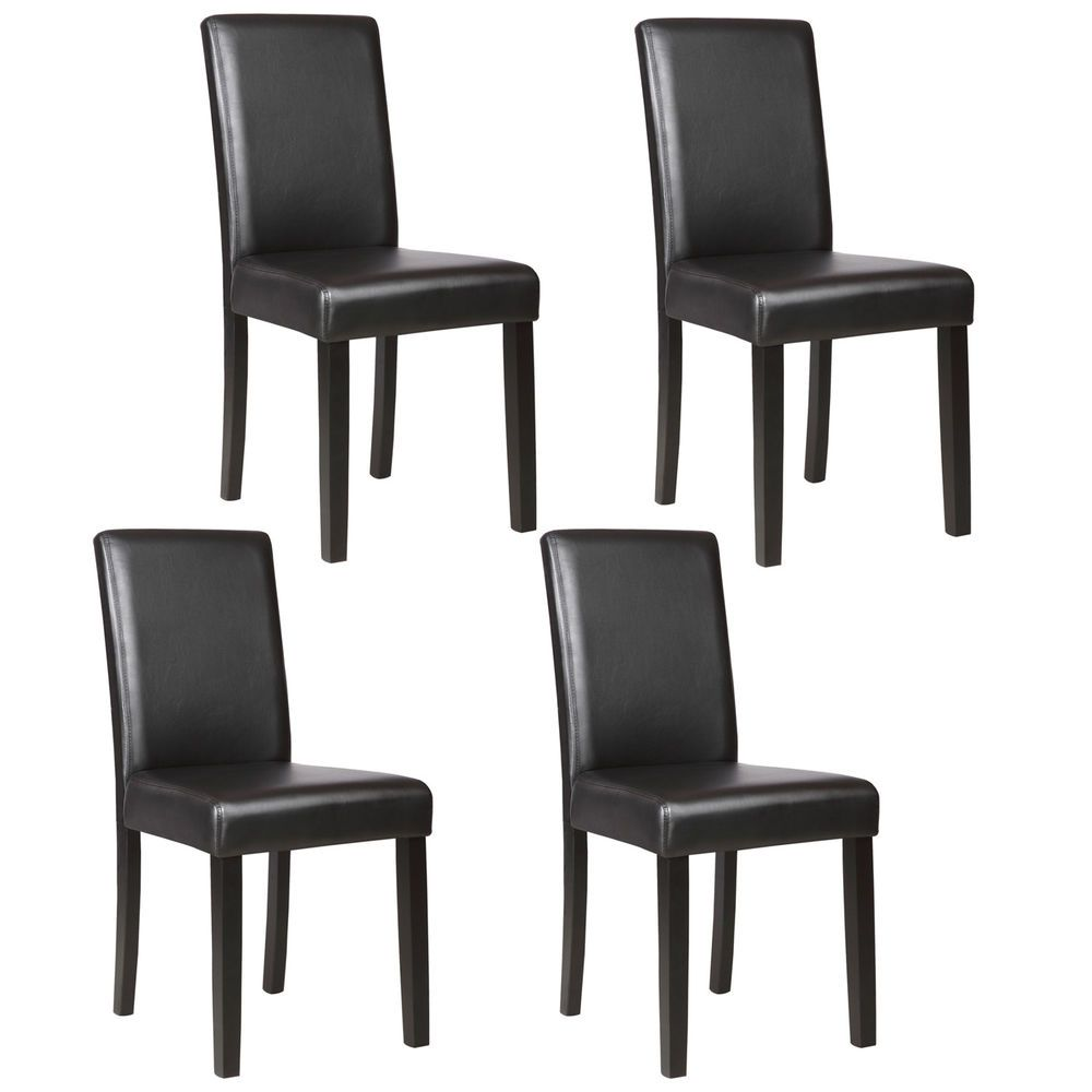 Details About Set Of 4 Modern Pu Leather Dining Side Chair Kitchen