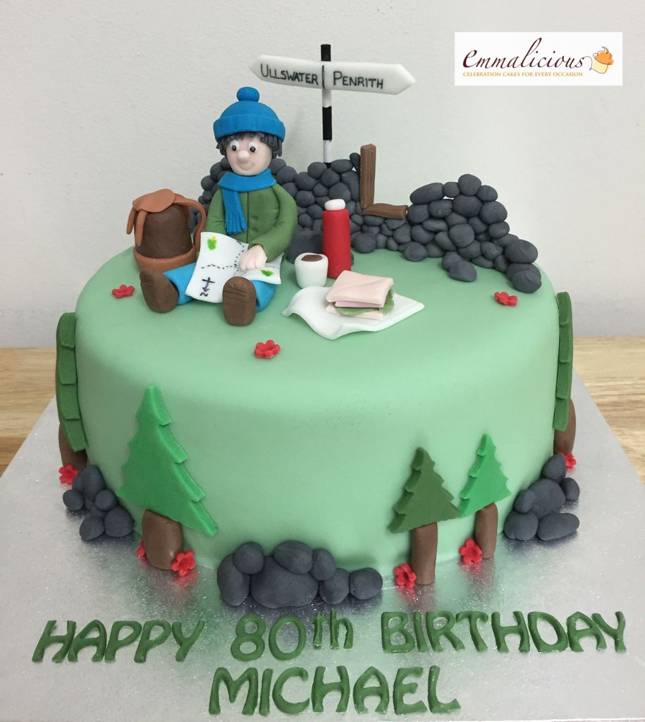 Hiking Cake: 70th Birthday Cake