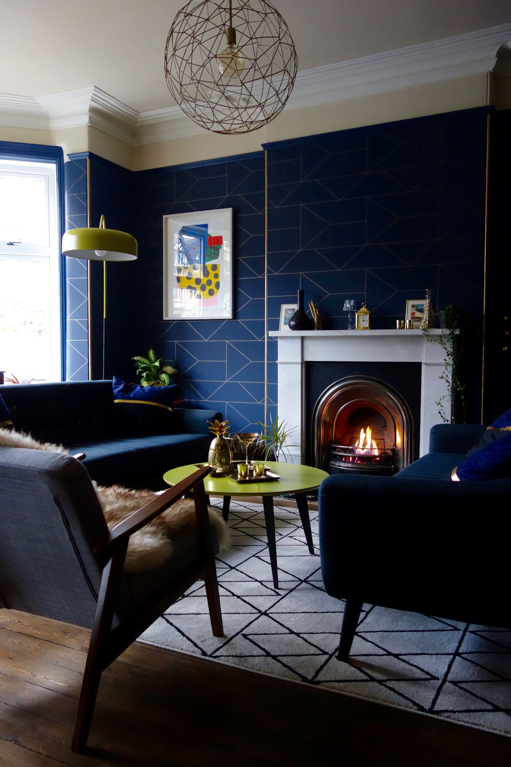 How To Plan Your Decorating Budget Blue Wallpaper Living Room