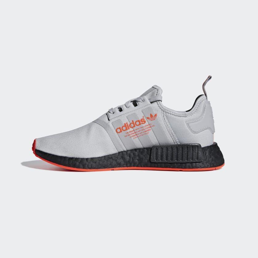 6f3938b3280f8 NMD R1 Shoes Grey   Grey   Solar Red F35882 Nmd R1