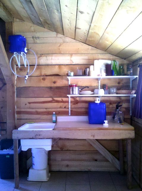 Kitchen Created With Recycled And Repurposed Materials For Under $75.00