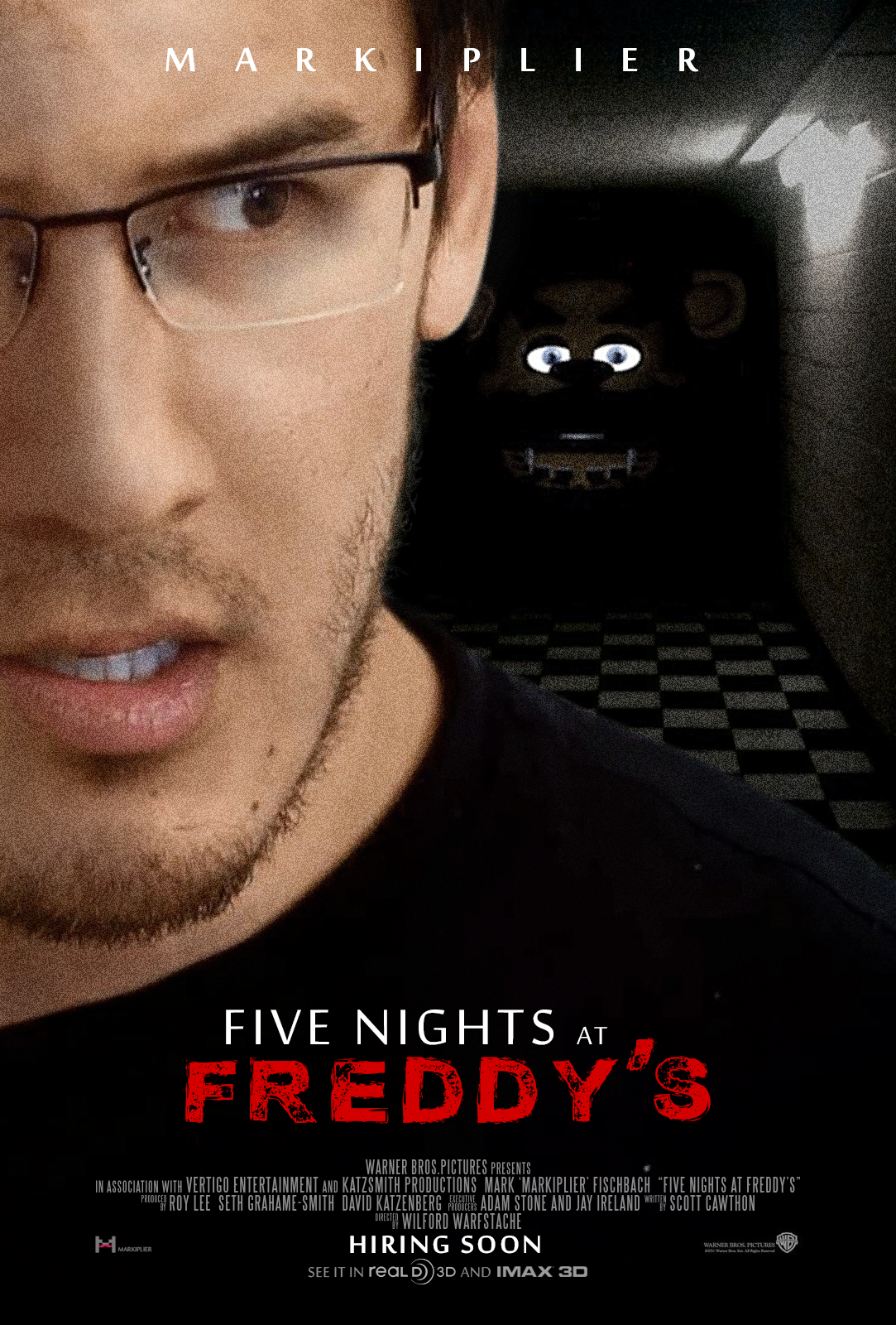 five nights at freddy s movie poster by imwithstoopid13 this would
