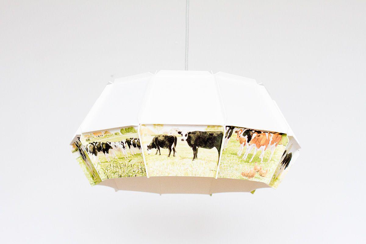Ode hanglamp met een bijzondere koeienprint ode is een serie