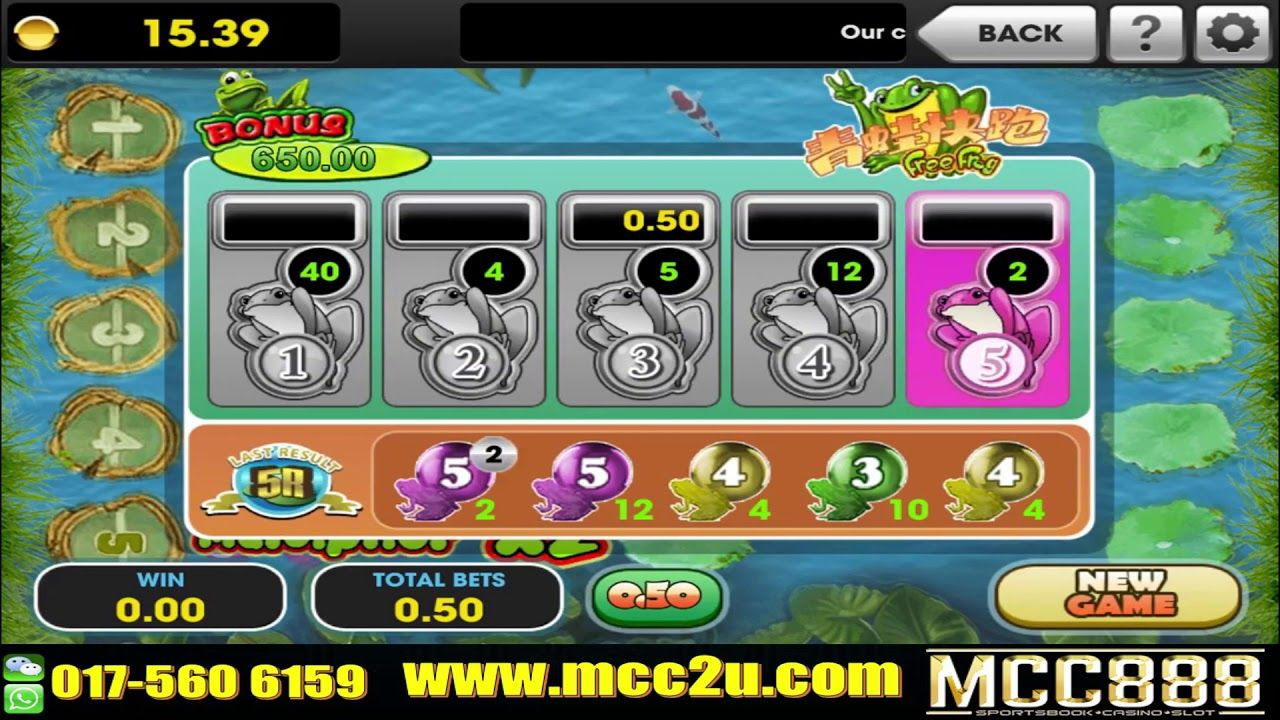 3WIN8 FROG JUMP Slot Game 100 Trusted Company Mcc888