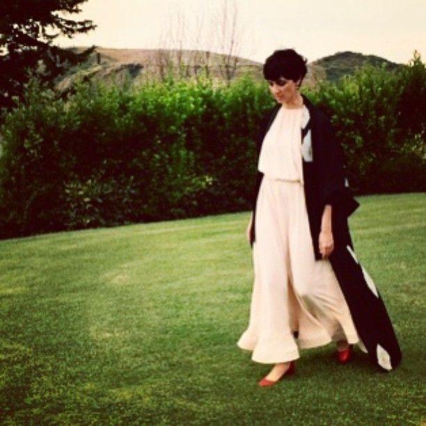 Floating dress + organza kimono #thewedding combo