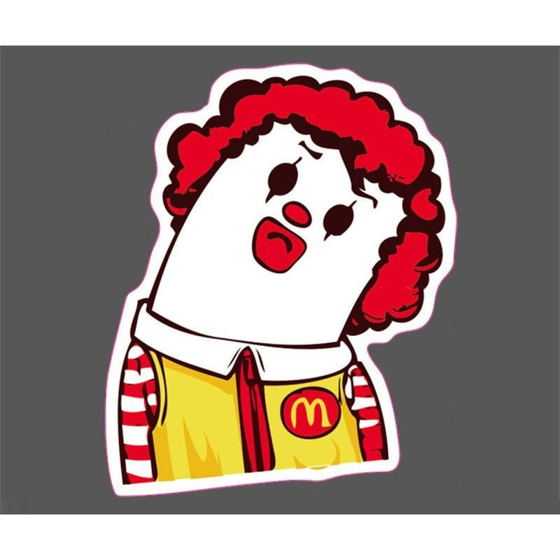 Ronald mcdonald neck break jdm sticker