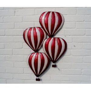 Metal Wall Art Hot Air Balloons Wall Art Q 604 Amazon Co Uk