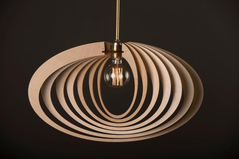 Elliptic Orbit Wood Lamp Wooden Lamp Shade Hanging Lamp