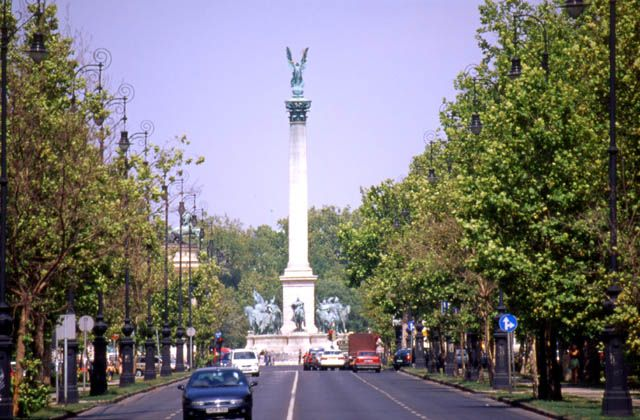 Budapest, Andrassy Blvd - love walking here in the spring.