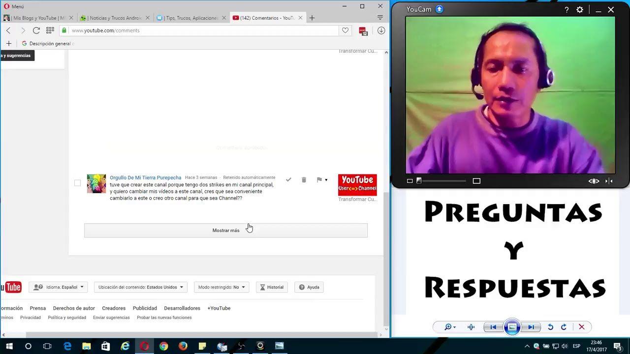 Preguntas Y Respuestas Facebook Bloqueado Canal De Marca Youtube Preguntas Youtube Canales
