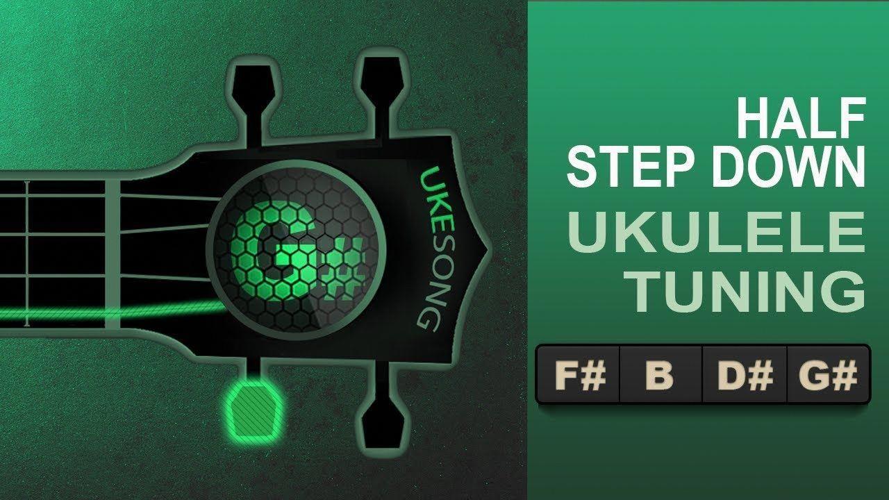 Half step down from standard ukulele tuning Online uke