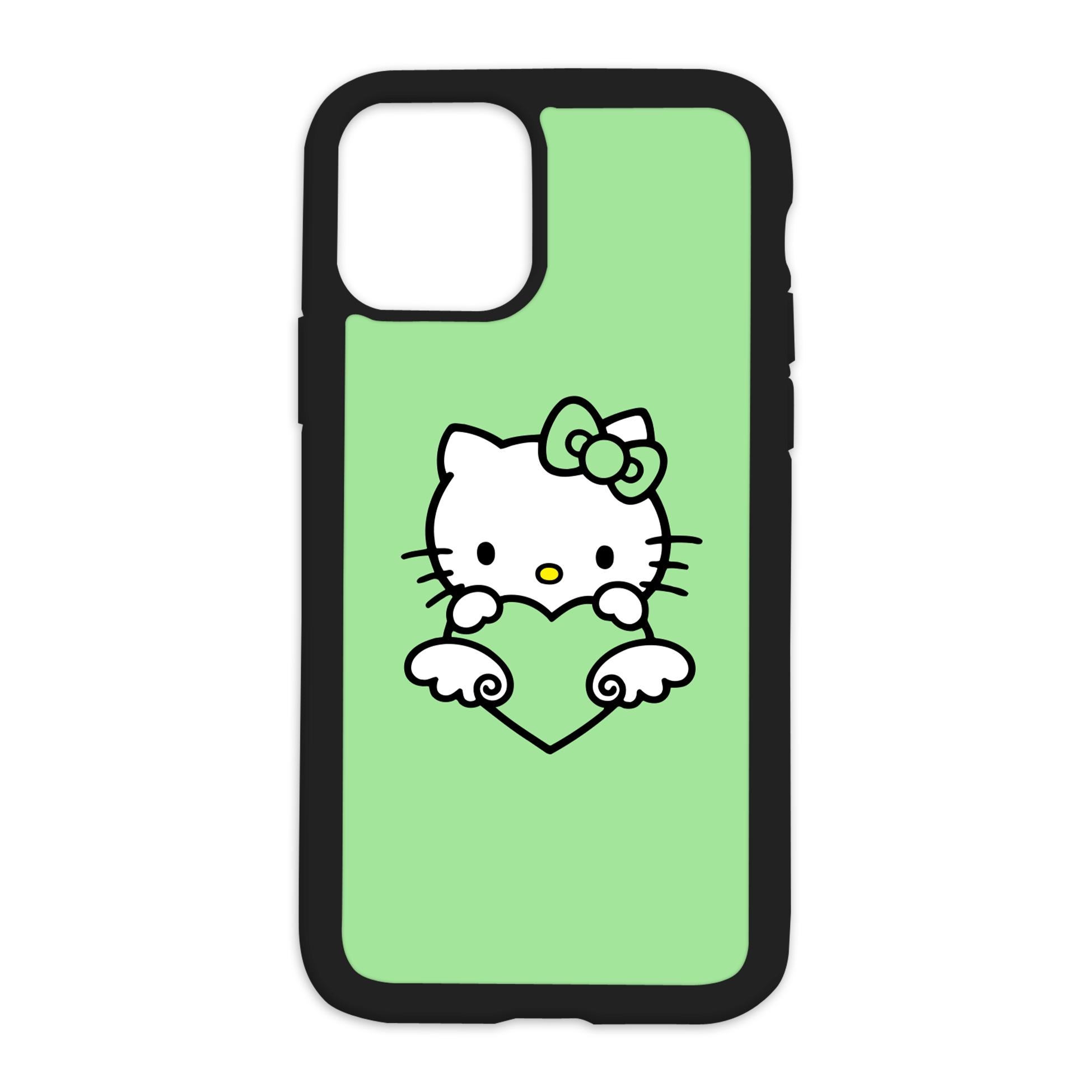 HK Design On Black Phone Case - XR / Green