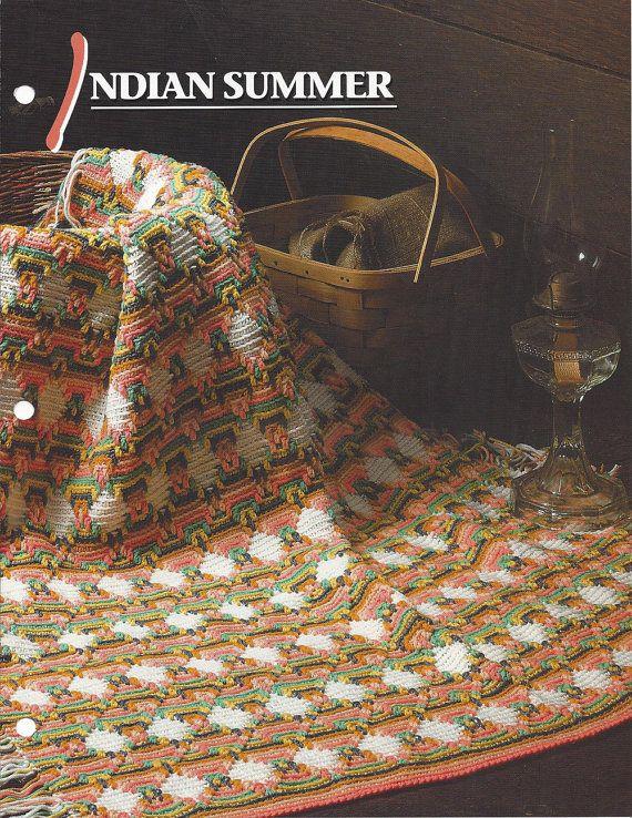 India verano afgano y manta - colcha de ganchillo de Annie y afgano ...