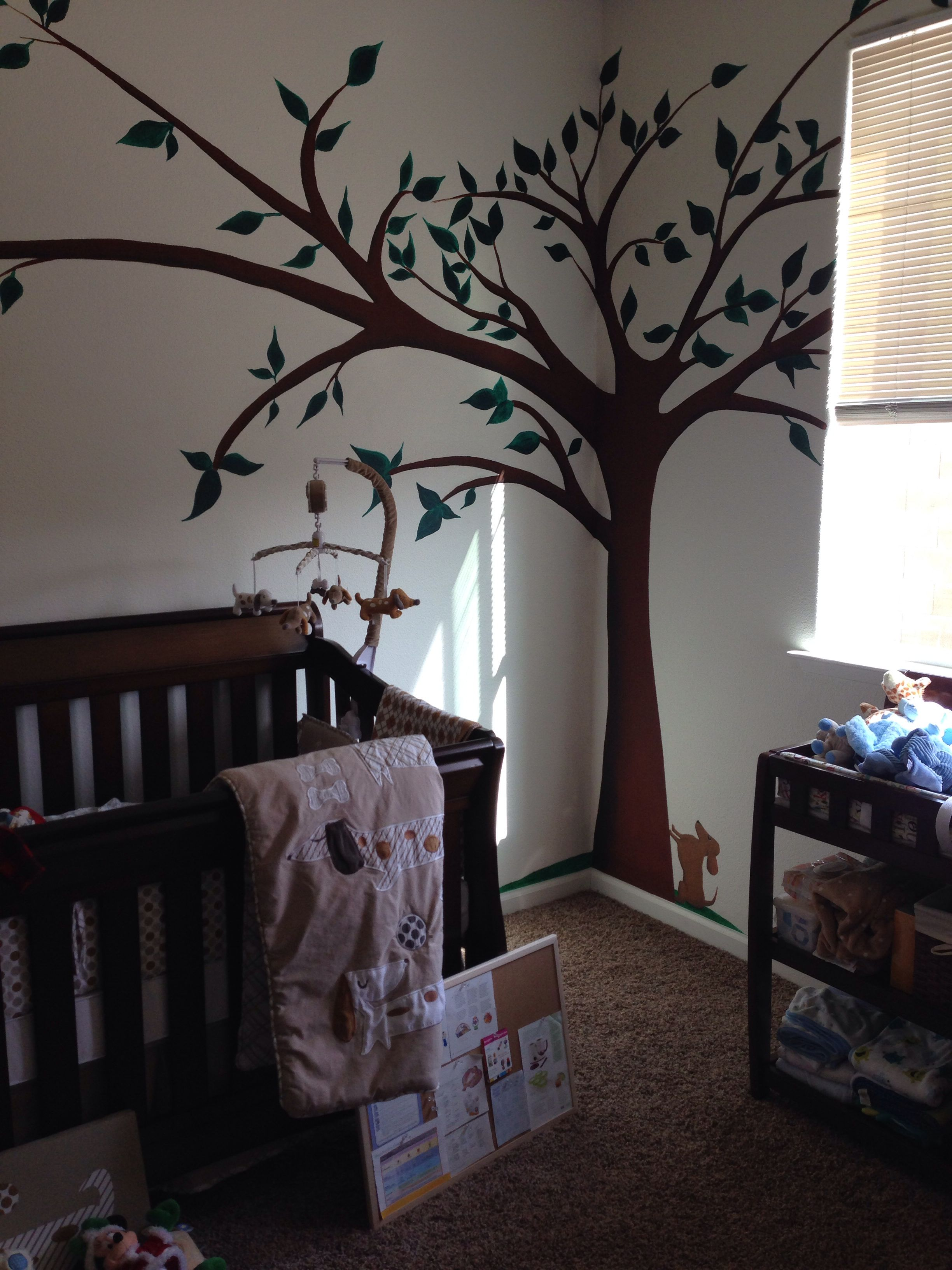 Jacksons nursery dachshund and a tree home decor