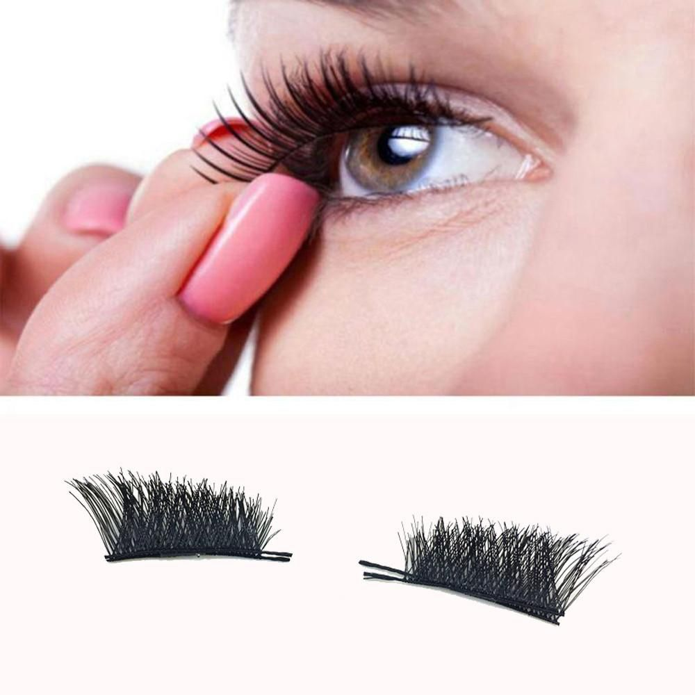 Beauty & Health Beauty Essentials Collection Here 1pair Mink Eyelashes Natural Black False Eyelashes Long Cross Fake Eye Lashes Extension Accessory Makeup Tools Complete In Specifications