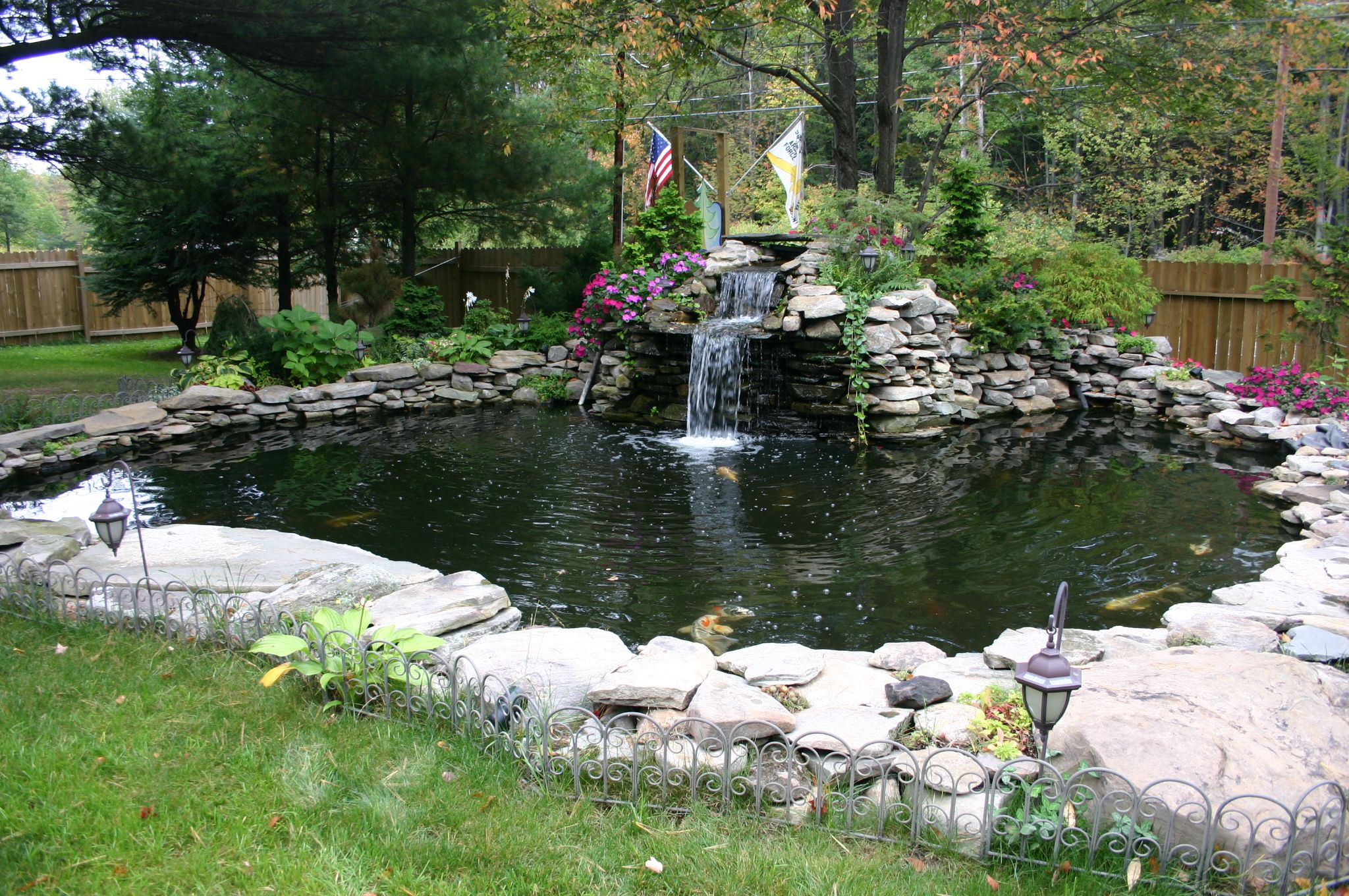 Pin By Wendy Grimmett On Gardens Water Gardens Pond Waterfalls Backyard Pond Water Features