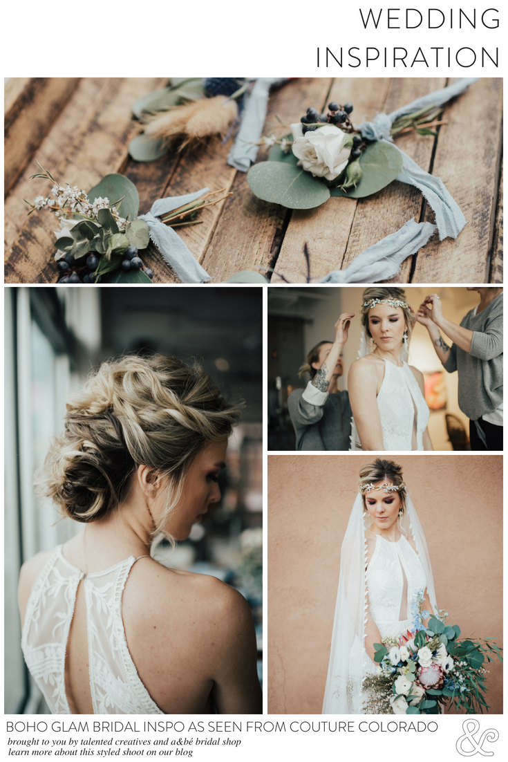 Boho glam bridal inspo as seen from couture colorado wedding tips