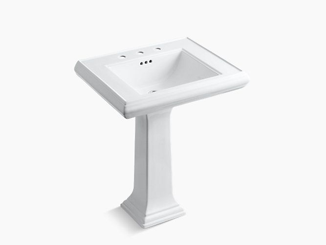 With elegant architectural styling, the 27-inch K-2258-8 sink with 8 ...