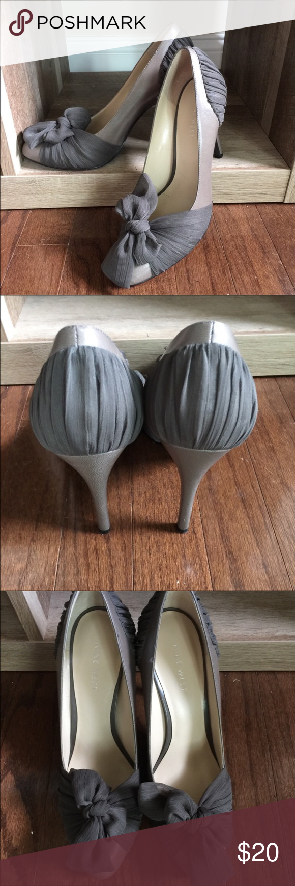 Nine West Heels Nine West Shoes. Size 7m. 3in heel. Oliveish color. In good condition no scuffs or marks on Shoes. Thanks!! Nine West Shoes Heels