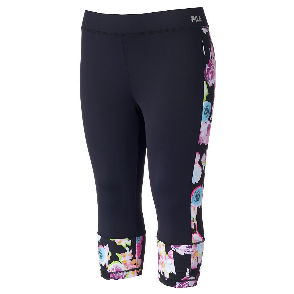 Plus Size FILA SPORT® Printed Capri Running Tights Explore our amazing  collection of plus size