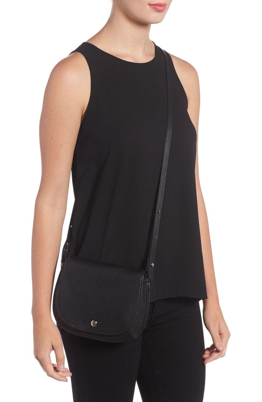 d7101bbce44a Small Le Foulonne Leather Crossbody Bag LONGCHAMP