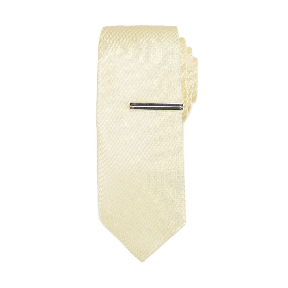 Men's Apt. 9® Shaker Solid Skinny Tie & Tie Bar, Yellow