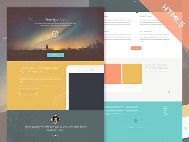 Starnight is an HTML5/CSS3 website template featured by a clean ...