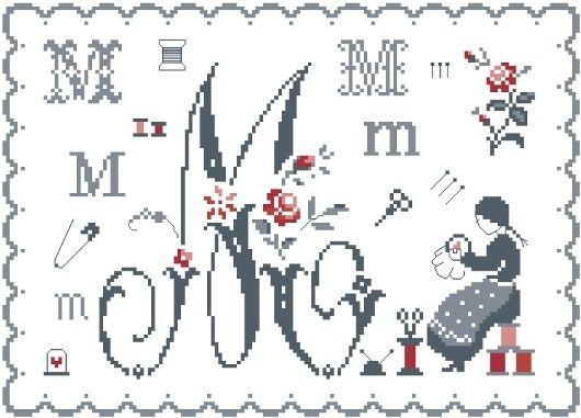 Fleurs de Lettre M