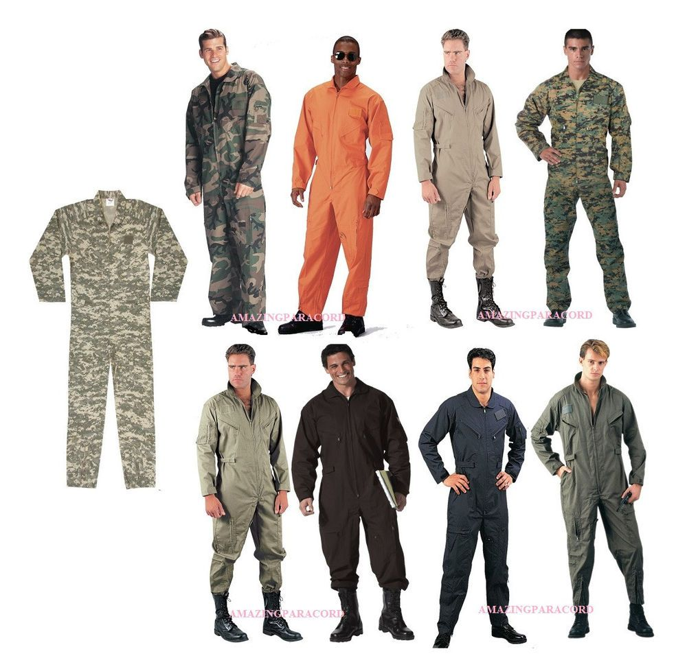 421a0892273 Military Flightsuit AirForce Mechanic Camo Coveralls Flight Suit Uniform  Overall  Rothco  Military--Enterprise uniform