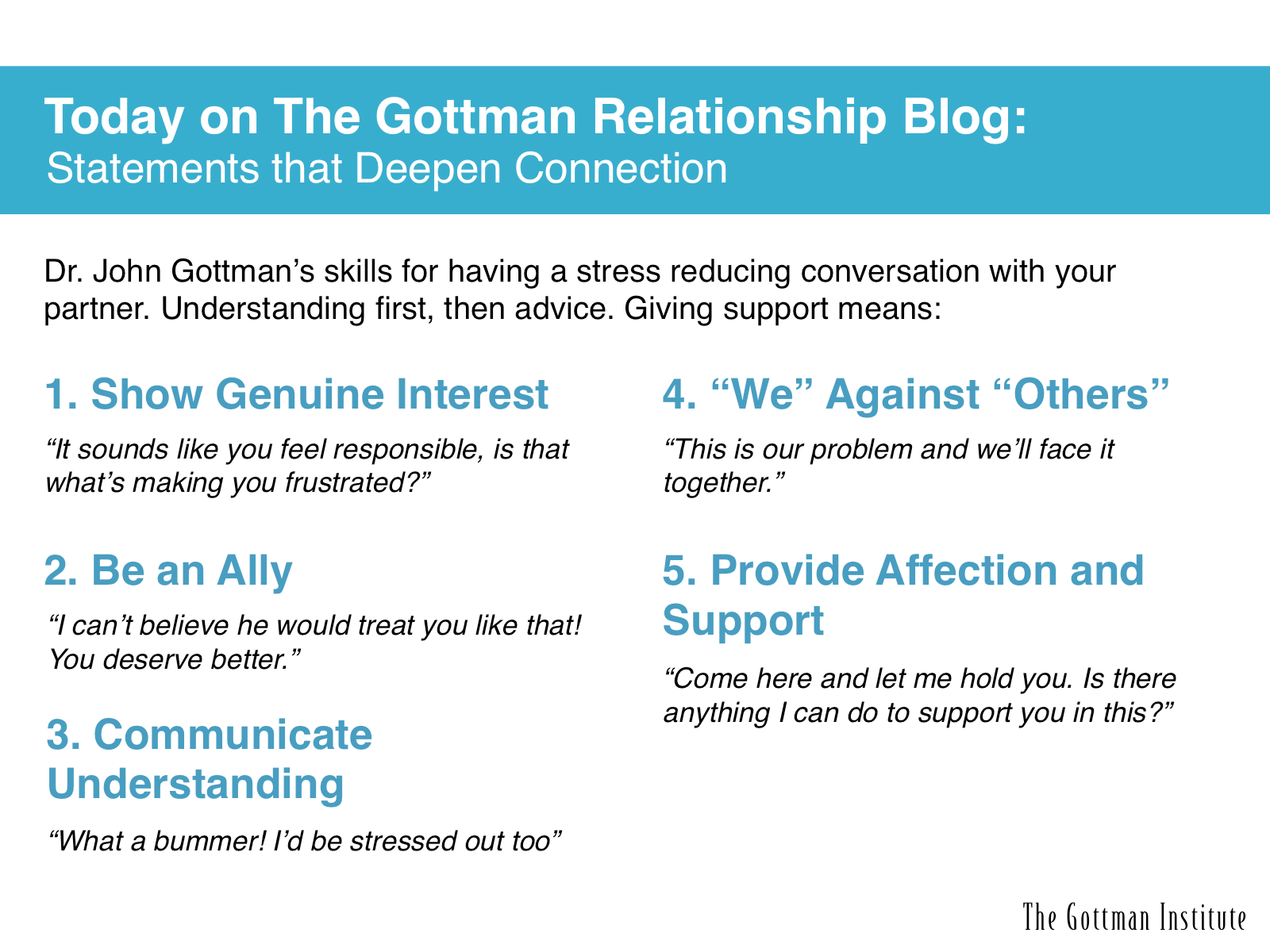 More Words Of Wisdom From The Gottman Institute If Your