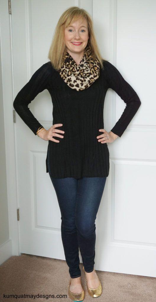 stitch-fix-35-september-2016-rd-style-mondavi-side-slit-v-neck-pullover-sweater-genetic-denim-gold-tieks-gorjana-crossover-cuff-leopard-print-scarf